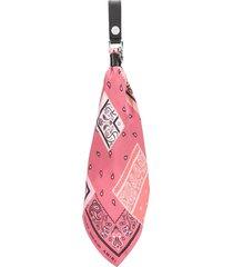 amiri bandana-print scarf keyring - pink