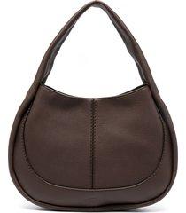 tod's small shirt hobo bag - brown