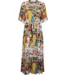 alessandro enriquez multicolor viscose dress