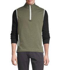 bonobos golf men's half-zip cotton-blend golf vest - olive - size xxl