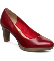 woms court shoe shoes heels pumps classic röd tamaris