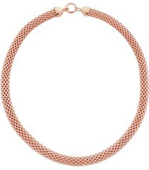 rose gold doina wide chain necklace