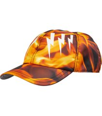 cappello berretto regolabile uomo mirrored bolts flames