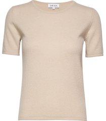 t-shirt t-shirts & tops short-sleeved beige davida cashmere