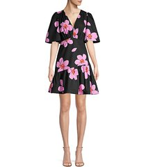 grand flora empire-waist a-line dress
