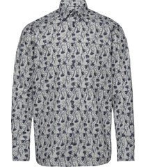 floral flannel shirt overhemd casual multi/patroon eton
