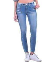 calça bloom jeans cigarrete tropea feminina
