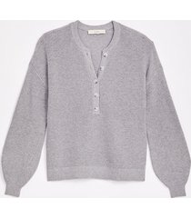loft ribbed henley sweater