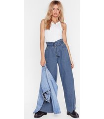 get this down on paperbag belted wide-leg jeans