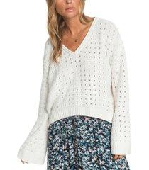 roxy juniors' do you good flare-sleeve sweater