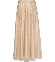 piana long sequin skirt lång kjol beige andiata