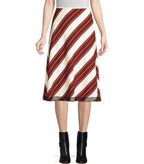 diagonal stripe-a-line skirt