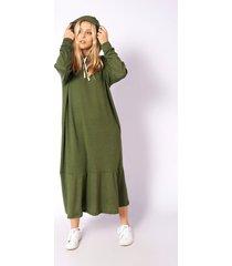 vestido verde skanda yanet