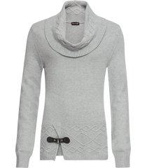 maglione con collo a ciambella (grigio) - bodyflirt boutique