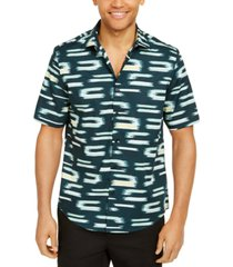 alfani men's classic-fit abstract geo-print shirt, created for macy's