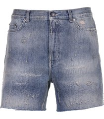 saint laurent saint laurent blue shorts