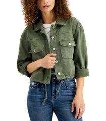 vigoss jeans cotton cuffed-sleeve jacket