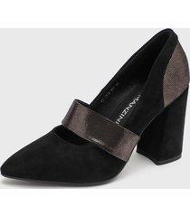 zapato suede negro eda manzini