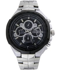 reloj negro montreal doble calendario