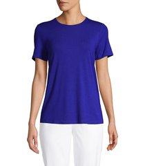 eileen fisher women's classic t-shirt - mist - size l