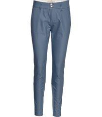 blake night pant sustainable pantalon met rechte pijpen blauw mos mosh