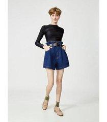 shorts jeans amapô clochard feminino