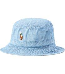 polo ralph lauren men's chambray bucket hat