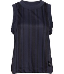 w tech cropped tank t-shirts & tops sleeveless blå peak performance