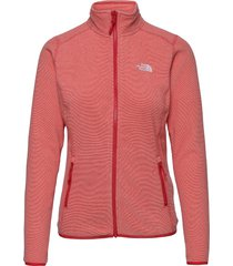 w 100 glacier full zip - eu sweat-shirts & hoodies fleeces & midlayers rood the north face