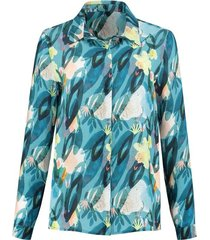 pom amsterdam flower play indigo blouse blauw