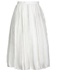 fabiana filippi devore fabric skirt
