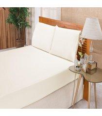 jogo de cama bia enxovais solteiro imperial 3 peças percal 180 fios branco,