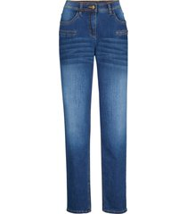 jeans elasticizzati con tasche decorate straight (blu) - bpc bonprix collection