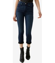 true religion women's halle high rise skinny capri jean