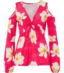 maglia con cut-out (fucsia) - bodyflirt boutique