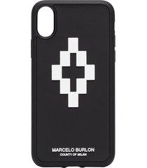 marcelo burlon county of milan cross 3d iphone x case - black