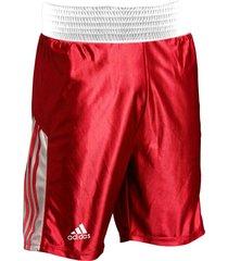 pantaloneta de boxeo adidas amateur rojo