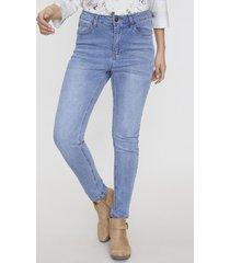 jeans skinny 1 boton azul medio  corona
