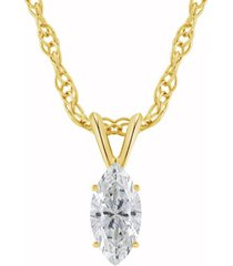 certified marquise diamond solitaire pendant necklace (1/2 ct. t.w.) in 14k white or yellow gold
