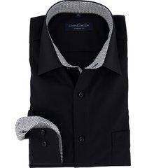 overhemd casa moda zwart comfort fit