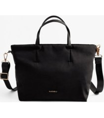 mango women's nylon shopper tote bag