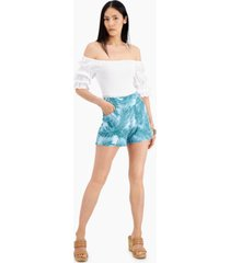inc printed pull-on shorts, created for macy's