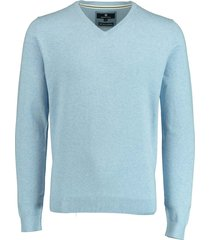 basefield pullover blauw v-hals stretch 219015014/605