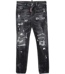 dsquared2 skinny jeans with crystals