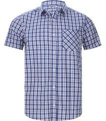 camisa doble cuadros color azul, talla s