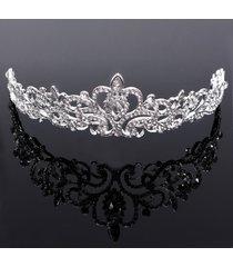 fascia elegante della parte superiore della corona della regina del rhinestone della fascia della fascia di lusso
