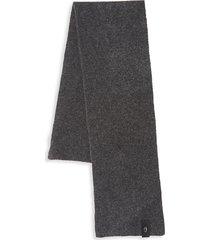 roberto cavalli men's wool blend scarf - smoke