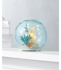 holiday lane seaside led glass ball with christmas tree and beach scene, created for macy's