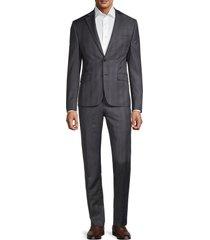 lauren ralph lauren men's regular-fit ultraflex plaid suit - grey - size 42 r