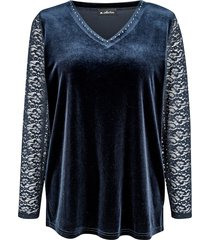 shirt m. collection donkerblauw